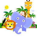 Animals and banner. Illustration of animals and banner vector illustration