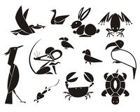 Animals and Birds. Vector illustrations of animals and birds Royalty Free Stock Photography