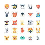 Animals and Birds Colored Vector Icons 3 Royalty Free Stock Image
