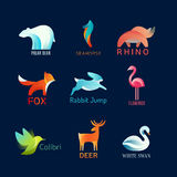 Animals Birds logo Royalty Free Stock Images