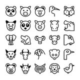 Animals and Birds Vector Icons 2 Royalty Free Stock Images