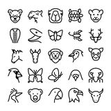 Animals and Birds Vector Icons 7 Stock Image