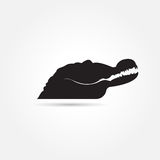 Animals black Vector image of an crocodile on  background Royalty Free Stock Photos
