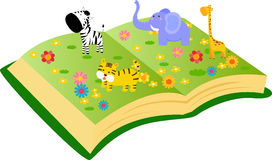Animals and book Royalty Free Stock Photo
