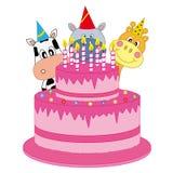 Animals-cake Royalty Free Stock Photo