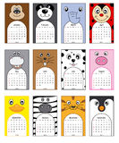 Animals calendar. 2014. funny and colorful animal calendars Stock Photography