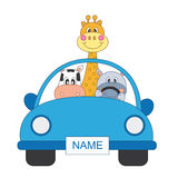 Animals in a car Royalty Free Stock Images