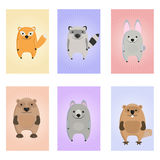 Animals Card. Educational cards for kids. Stock Photography