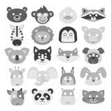 Animals carnival mask vector set festival decoration masquerade and party costume cute cartoon head decor Stock Photo