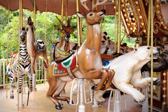 Animals carousel Stock Image