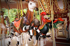 Animals carousel Stock Photo