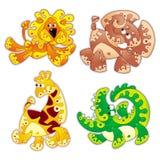 Animals cartoon 1. Animals stylized in cartoon Royalty Free Stock Image