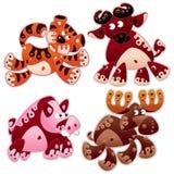 Animals cartoon 4. Animals stylized in cartoon Royalty Free Stock Images