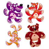 Animals cartoon 5. Animals stylized in cartoon Stock Photos