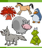 Animals cartoon characters set Stock Images