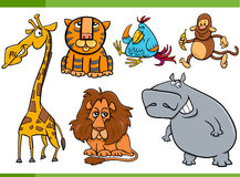 Animals cartoon characters set Stock Photo