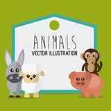 Animals cartoon design. Animal concept with cartoon icons design, vector illustration 10 eps graphic Royalty Free Stock Photography