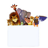Animals cartoon frame Royalty Free Stock Photos