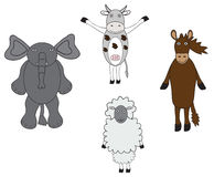 Animals cartoon. Lovely cartoon animals and very good to have some job to do Stock Image