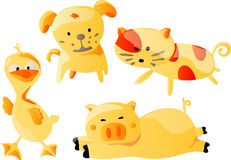 Animals Cartoon (Vector). Animals Cartoon In Vector Format (Dog, Duck, Pig and Cat Stock Image