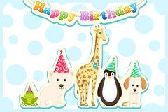 Animals Celebrating Birthday Royalty Free Stock Photo