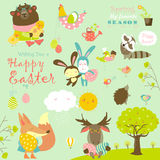 Animals celebrating Easter Stock Images
