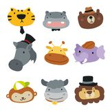 Animals character design royalty free illustration