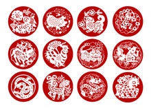 Animals of Chinese Calendar Stock Image
