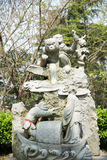 The 12 animals of the Chinese Zodiac Monkey statue Royalty Free Stock Photo