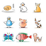 Animals collection Stock Images