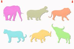 Animals colored notes Stock Photo