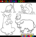 Animals for Coloring Book or Page Royalty Free Stock Photography