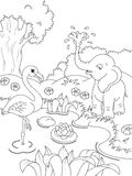 Animals coloring page Royalty Free Stock Photography