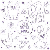 Animals coloring Royalty Free Stock Images