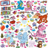 Animals , comics for children stickers, illustration for kids. Comics for children stickers Stock Photography
