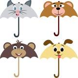 Animals Design Umbrella. Illustration of Umbrella with Animal Designs in it. 4 different umbrella with four different animals in it Stock Illustration