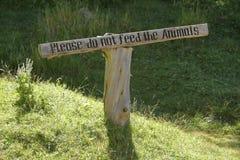 animals do feed όχι παρακαλώ Στοκ φωτογραφία με δικαίωμα ελεύθερης χρήσης