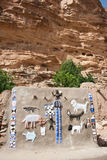 Animals and Dogon masks. Royalty Free Stock Photography