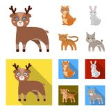 Animals, domestic, wild and other web icon in cartoon,flat style. Zoo, toys, children, icons in set collection. Animals, domestic, wild and other icon in vector illustration