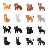 Animals, domestic, wild and other web icon in black,cartoon style. Zoo, toys, children, icons in set collection. Animals, domestic, wild and other  icon in Royalty Free Stock Image