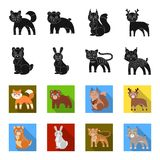 Animals, domestic, wild and other web icon in black,flet style. Zoo, toys, children, icons in set collection. Animals, domestic, wild and other  icon in black Stock Photo
