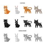 Animals, domestic, wild and other web icon in cartoon,black,monochrome style. Zoo, toys, children, icons in set. Animals, domestic, wild and other icon in vector illustration
