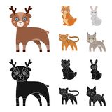 Animals, domestic, wild and other web icon in cartoon,black style. Zoo, toys, children, icons in set collection. Animals, domestic, wild and other icon in vector illustration