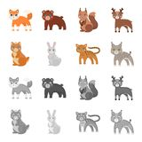 Animals, domestic, wild and other web icon in cartoon,monochrome style. Zoo, toys, children, icons in set collection. Animals, domestic, wild and other  icon in Royalty Free Stock Photo