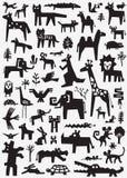 Animals doodle set Stock Photos