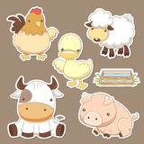 Animals farm set Royalty Free Stock Image