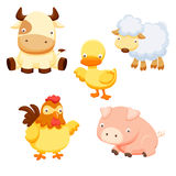 Animals farm set Stock Photos