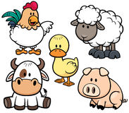 Animals farm vector illustration