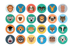 Animals Flat Colored Icons 2 Stock Photo