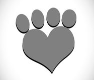 Animals Foot paw prints Stock Photos